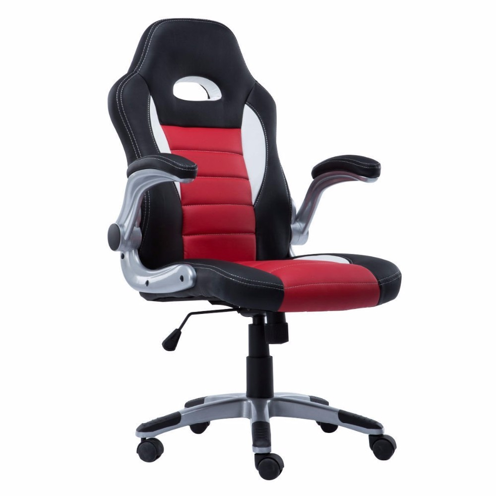 Executive Racing Bucket Seat Gaming Office Desk Chair High Back PU Leather