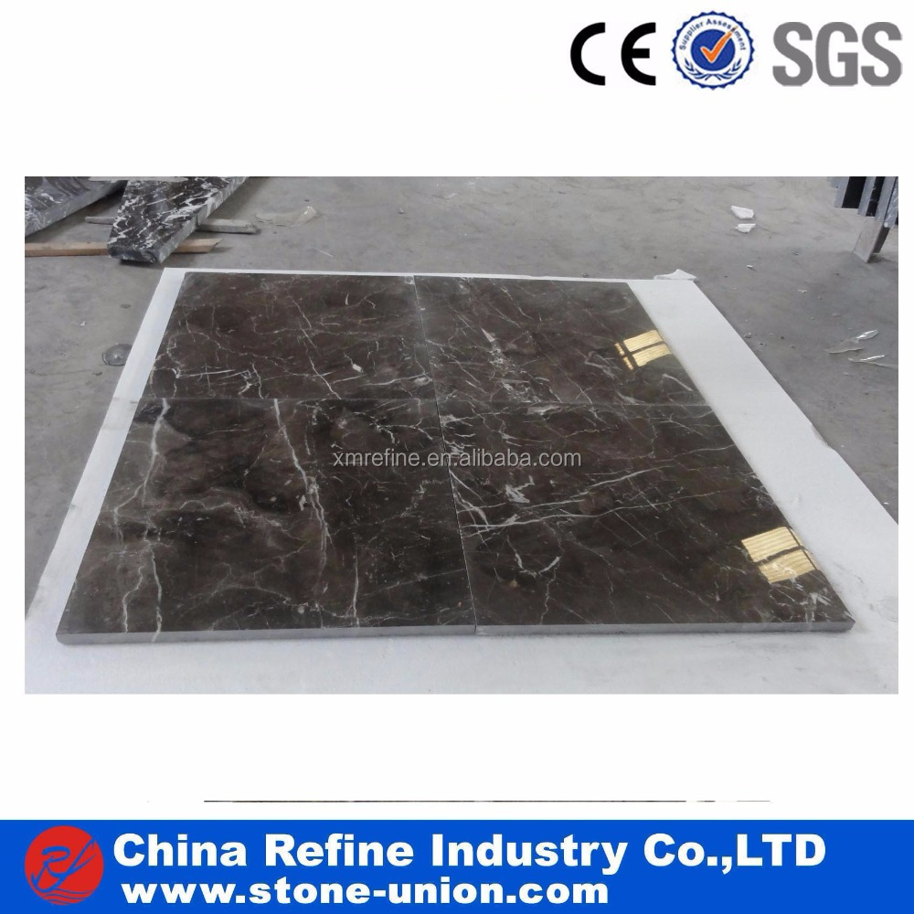 China dark emperador 600x600 polished marble tile