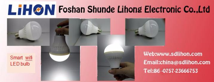 mobile wireless controlled LED bulbs with smart home products linkage
