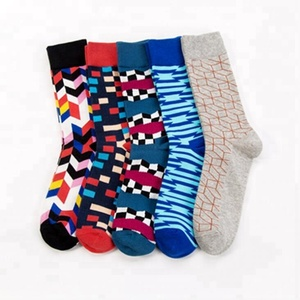 Men's Funny Colorful Combed Cotton Socks Red Argyle Dozen Pack Casual Happy Socks Dress Wedding Socks