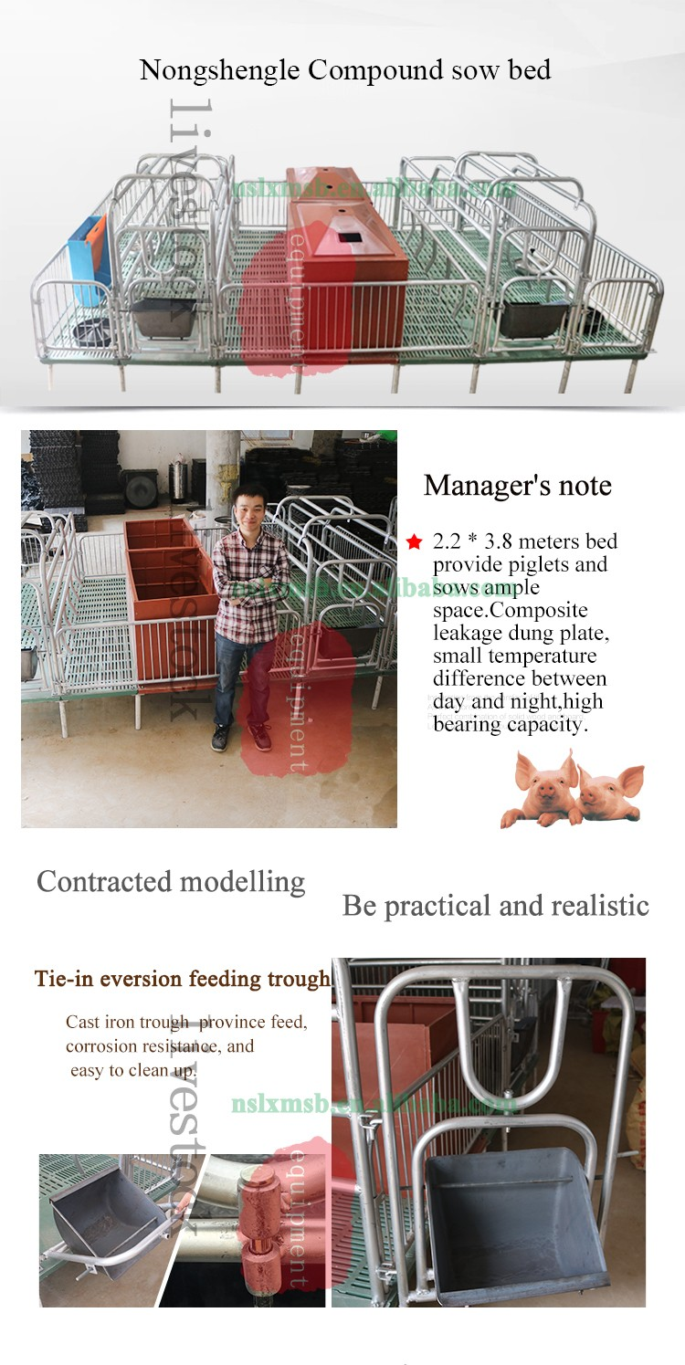 Automatic farrowing stall for pig farm
