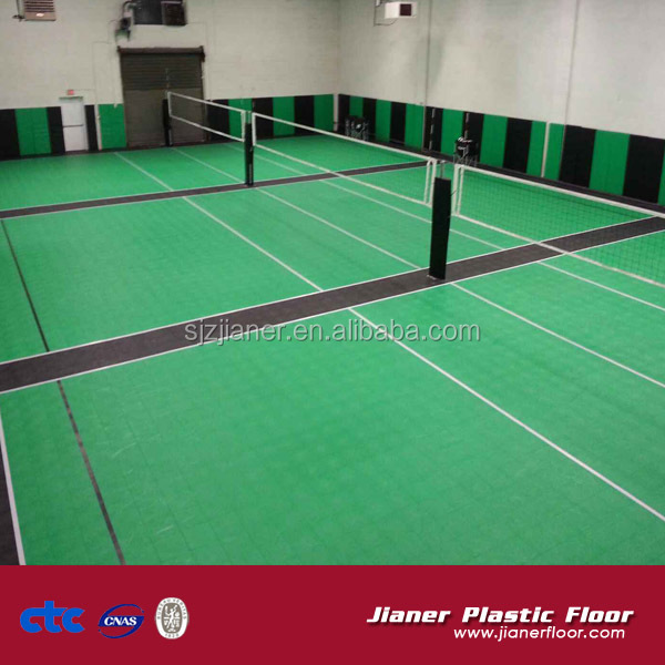Portable outdoor sport volleyball court flooring ,used volleyball sport court