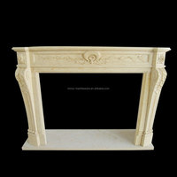 Decoration marble carving gas fireplace outdoor