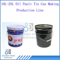 Semi-automatic Manual 10L-25L Metal Paint Oil Barrel Drum Tin Can Making Production Line