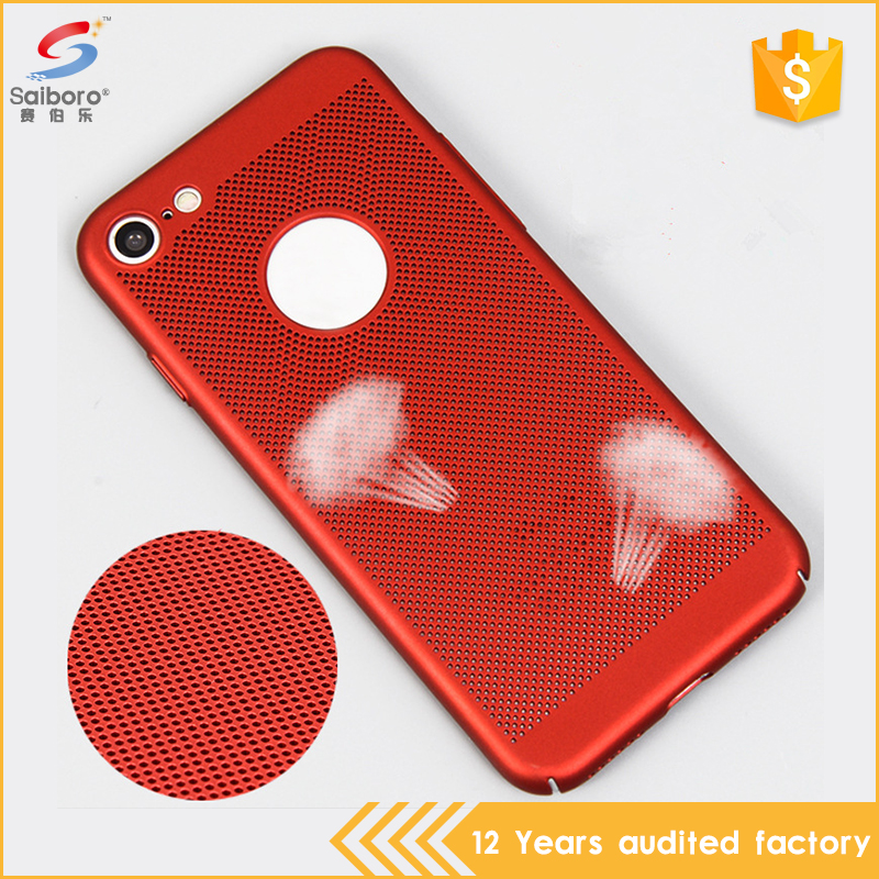Mesh pc heat dissipation mobile phone case cover for iphone 7,heat radiating case for iphone 7 cover,for iphone7 back cover