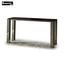 Dongguan black glass console table