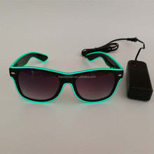 Sound Actived Neon 10 colors Glowing EL Wire Glasses