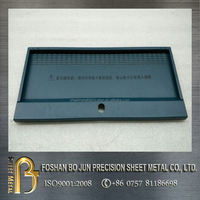 customized sheet metal color galvanized double door enclosure fabrication