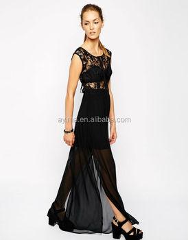 Chicas con vestido largo negro