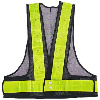 R160 Mesh Fabric Flashing Led Safety Vest for Road Safety