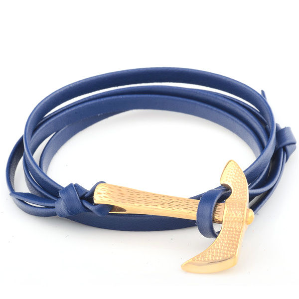Newest Design Genuine Leather Stainless Steel Sliding Knot Bracelet