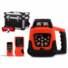 Red rotary Laser Level 500M Horizontal vertical machine with Aluminum tripod and 5m staff