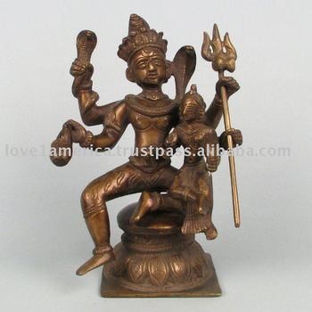 SHIVA and PARVATI Brass Statues
