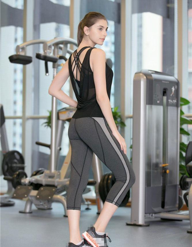 Großhandel dry fit benutzerdefinierte spandex sexy frauen einzigartige fitness yoga tragen