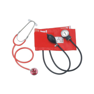 Economy tpye normal gauge tpye portable aneroid sphygmomanometer with dual head stethoscope