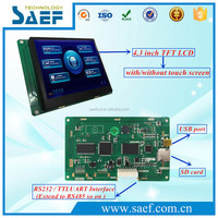 Intelligent TFT 4.3 inch lcd display RS232 /RS485 series interface without touch screen