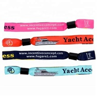Manufacture one time use customize multiaccessories colorful woven festival fabrics wristbands