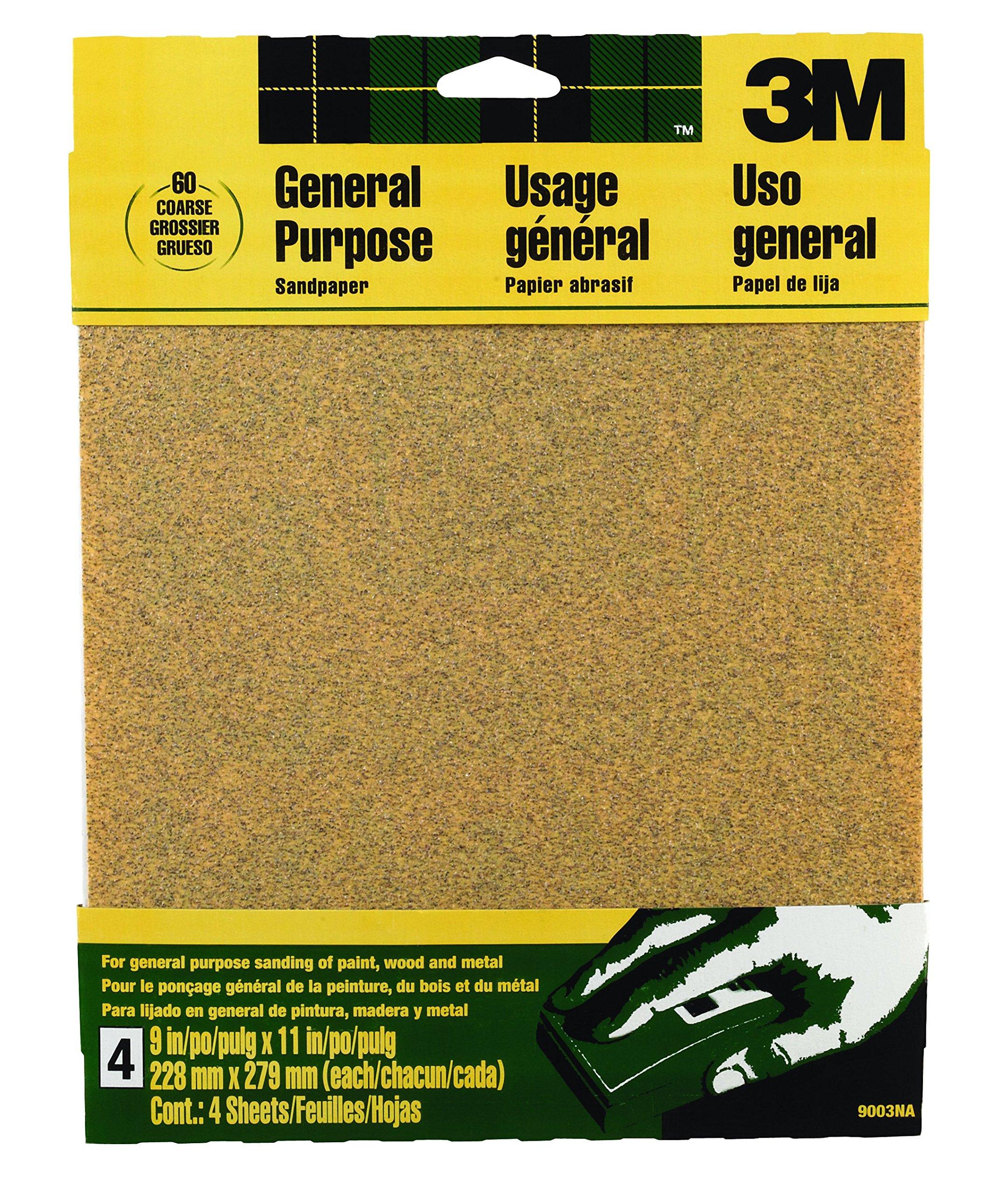 15 Sheets Total 9-Inch x 11-Inch Norton 02616 3X Handy Aluminum-Oxide Sandpaper 220 Grit 5 Pack