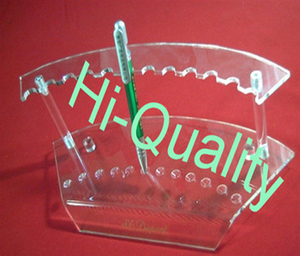 Clear Acrylic Pen Holder Rack Display Stand Memo Stand