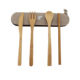 Natural style WanuoCraft Reusable baby tableware , bamboo travel tableware set include Forks Spoons Knives and kraft bag