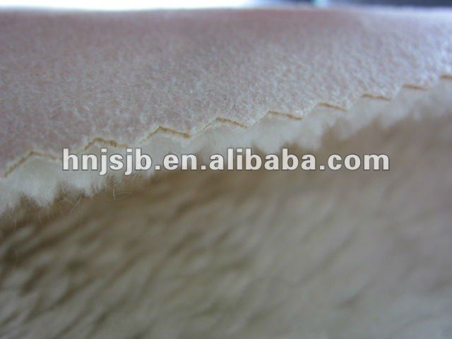 polyester sherpa fleece fabric suede fabric backing for winter clothes material