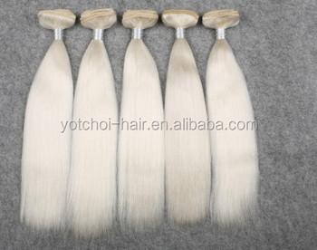 White 7a Double Drawn White Weft Yak Hair