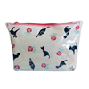 cat printing shiny pvc zipper standing pouch make up