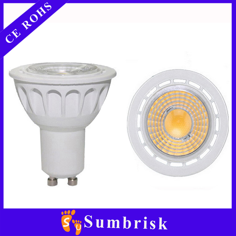 New Aluminum 5w COB 400lm 35mm gu10 led bulb