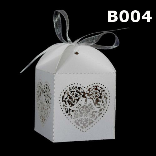 Laser cut wedding favor box Party favour box candle holder
