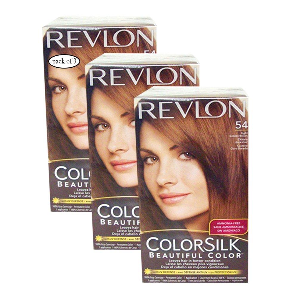 Revlon Hair Color Light Golden Brown(54) (Pack of 3) 8695547