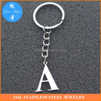 Personalised keyring Stainless Steel Keychain Letters Alphabet Bag Pendant DIY jewelry