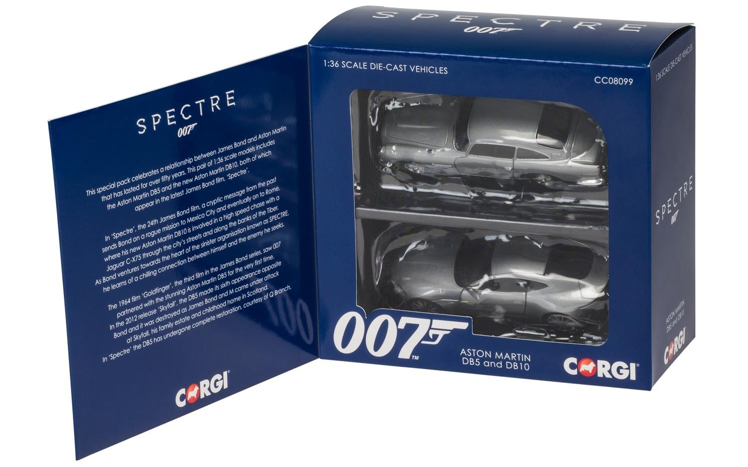 Corgi Boys James Bond Aston Martin DB10 and DB5 - 'Spectre' 1:36 Diecast Car Twin Pack