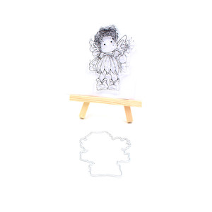 New Girl Style Transparent Clear Stamp and Metal Cutting Die for DIY Scrapbooking / Card Making/Photo Album Decoration