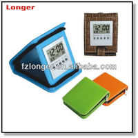 Wholesale unique lcd small folding travel alarm clock digital alarm clock