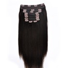 New Hair Style 100% Human Hair Clip In Hair Extensions Natural color 10pieces 24inch 160g