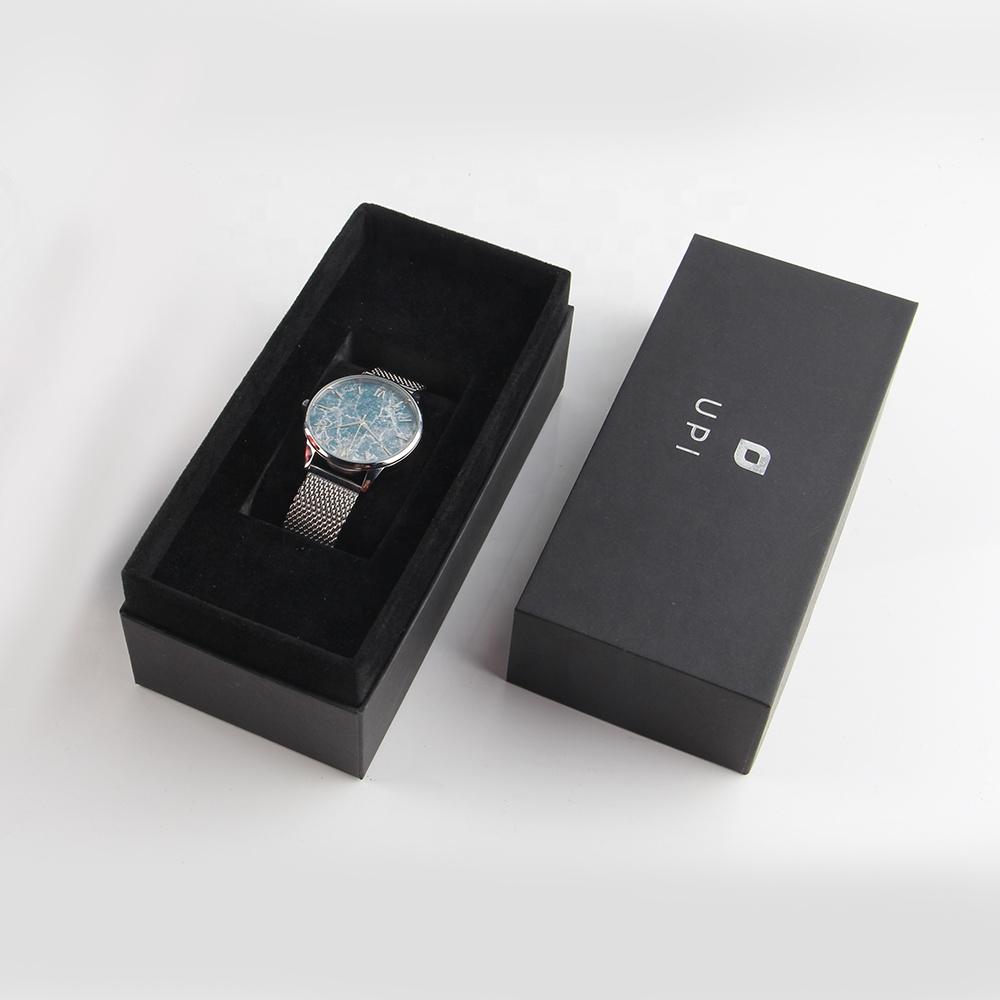 कस्टम oem कागज फोम डालने लक्जरी सस्ते मूल घड़ी पैकेजिंग बॉक्स