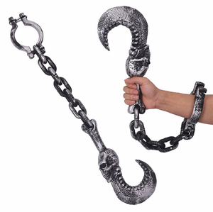 New unique pirate hook handcuffs thor hammer handchain axe handcuffs prop Halloween plastic decorations