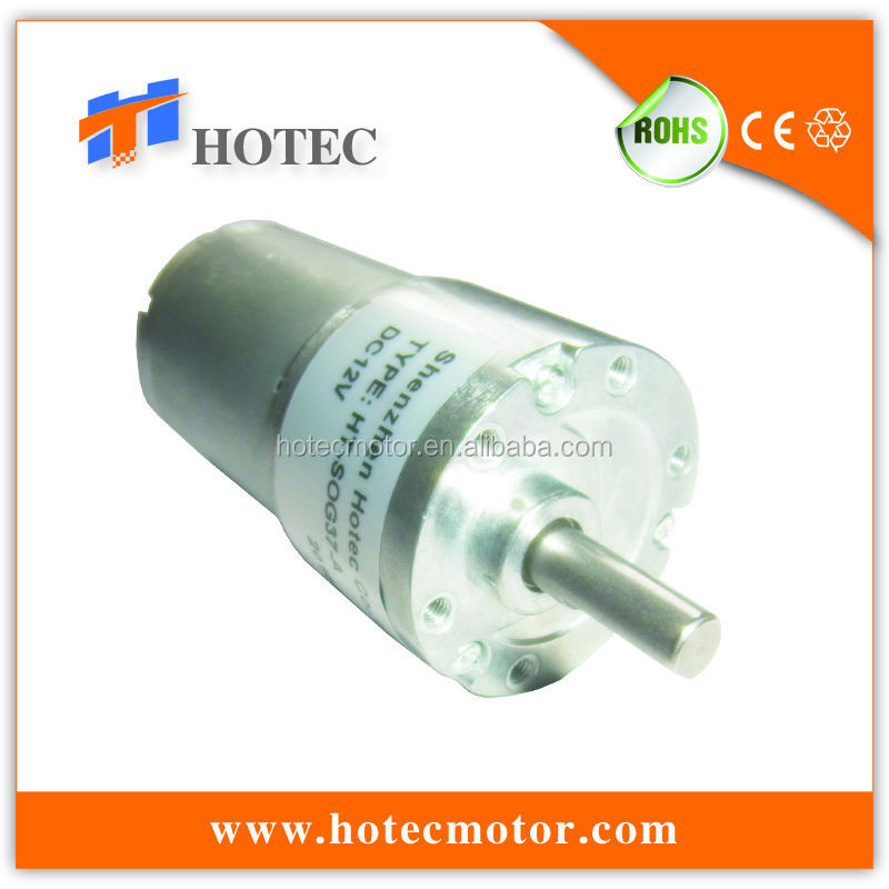more durability than Zheng motor 6mm offset shaft 12v 37mm 6rpm gear motor