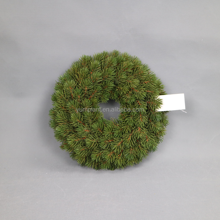 High quality export artificial decorative plastic Christmas pine wreath