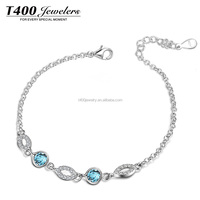 T400 925 Silver Modern Jewellery Diamond Bracelet Jewelry