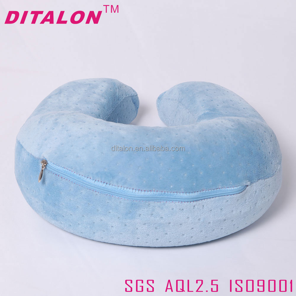Hot sale comfortable customized slow spring back cheap price U shape memory foam pillow