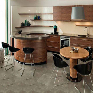 new design modern round corner kitchen cabinet