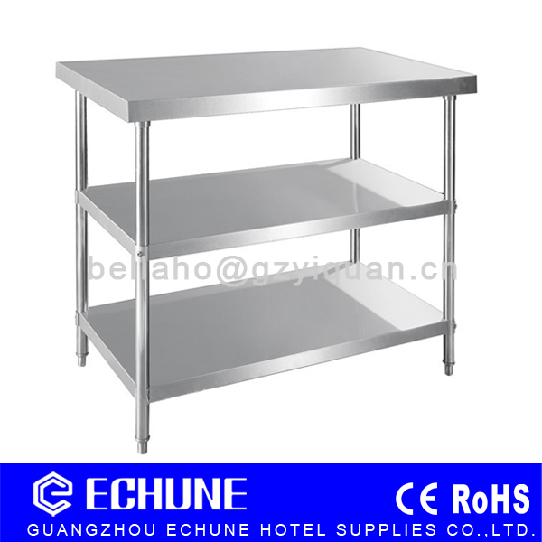 Restaurant Kitchen Work Tables restaurant kitchen heavy duty stainless steel work table with 3