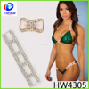 Crystal sexy bikini connector chain for women body wear