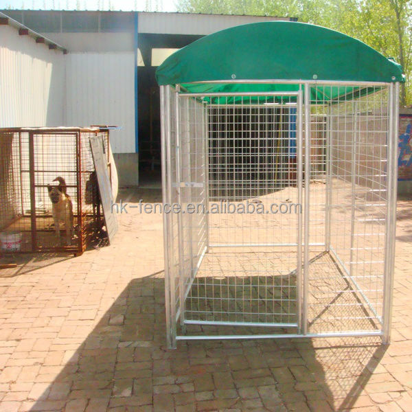 Hot sale power coated 9ft dog run panel / dog kennel cage animal house / galvanized steel welded dog kennel direct China factory