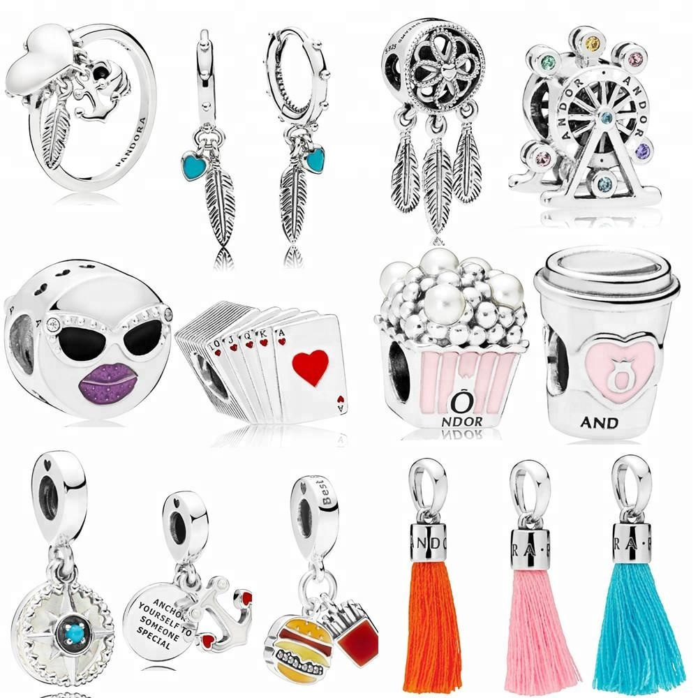 2018 Summer Charms With High Quality 1:1 Original Fit Pandoras Charms Bracelets