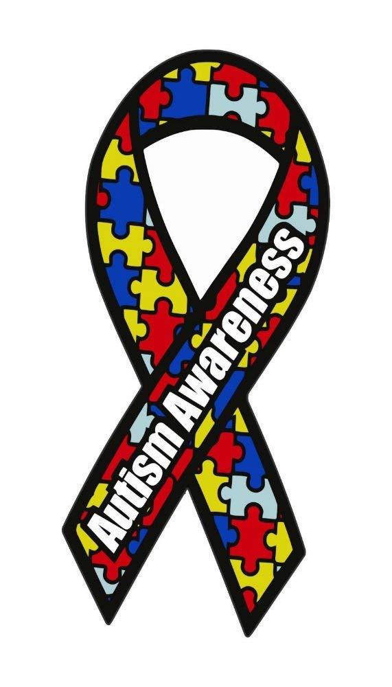 Autism Awareness Ribbon Bumper Sticker Vinyl Car Window Decal CDD-506160A