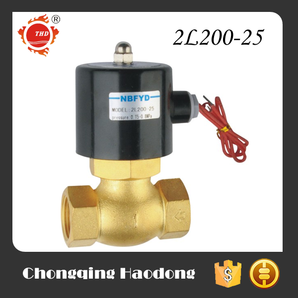 Drain hot water brass or stainless steel solenoid valve