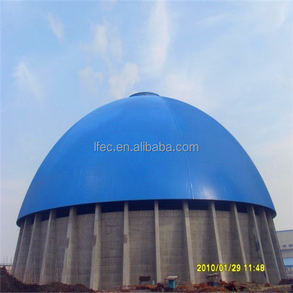 Prefabricated long span steel truss structure dome coal storage design