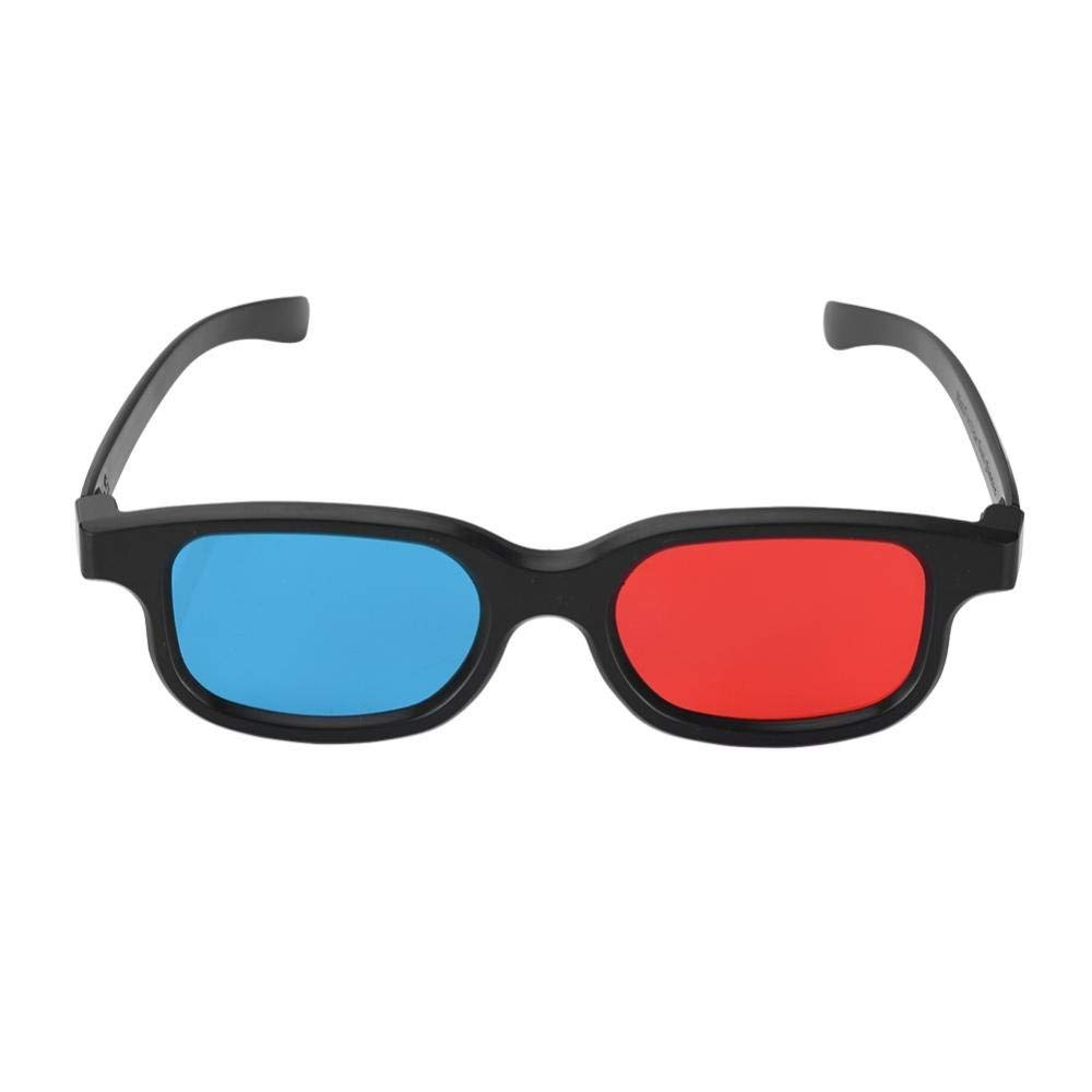 e52f7e7520 Get Quotations · fosa 2pcs Black Frame Red Blue 3D Glasses Core Player Red  Blue Format Stereoscopic Movie Glasses